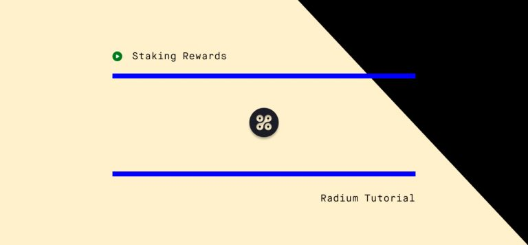 How to stake Radium (RADS)