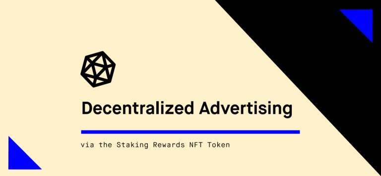 Decentralized Advertising with Staking Rewards
