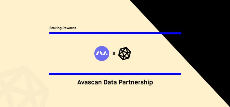 Avascan x Staking Rewards Data Partnership