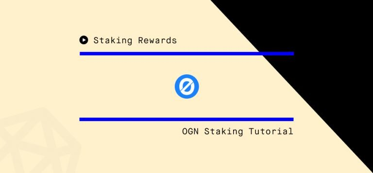 Origin Tokens (OGN) Staking Step-by-Step Guide