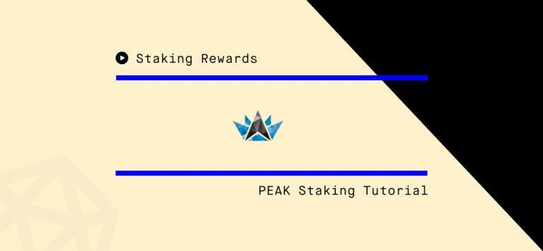 How to Stake PEAKDEFI