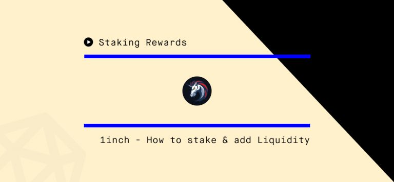 How to Stake 1INCH and Provide Liquidity on 1inch.exchange